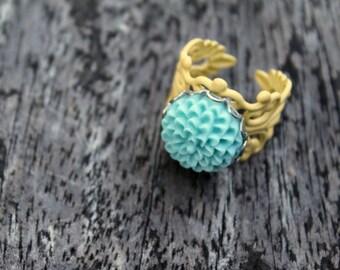 Mediano Chrysanthemum Ring