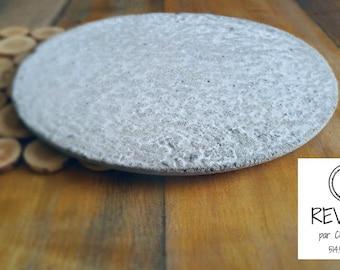 Concrete - flat round tray