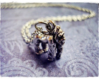 Silver Gorilla Necklace - Silver Pewter Gorilla Charm on a Delicate Silver Plated Cable Chain or Charm Only