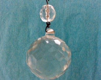 Crystal Ball - rainbow prism - vintage faceted prism crystal ball - Feng Shui crystal - crystal suncatcher