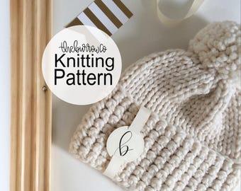 PATTERN | Inverse Hat Knitting Pattern | Knitting Pattern | Crochet Pattern