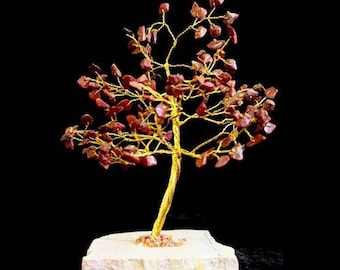 Tree of life 160 red Jasper stones
