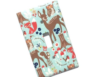 Woodland Animals Nature Light Switch Plate Cover