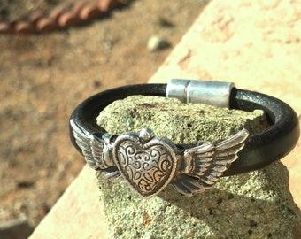 Winged Heart Freedom Bracelet
