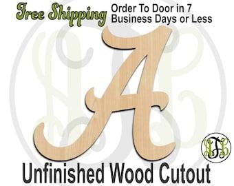 Alabama Font Letters A-Z - 410001 -Alabama Alphabet Cutout, Initial, unfinished, wood cutout, wood craft, laser cut wood, wood cut out, DIY