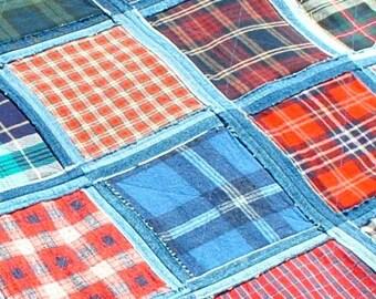 Denim Picnic Blanket pdf pattern
