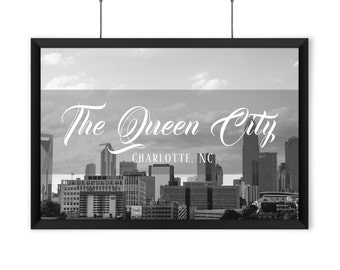 The Queen City - Charlotte, NC - Black & White - Print