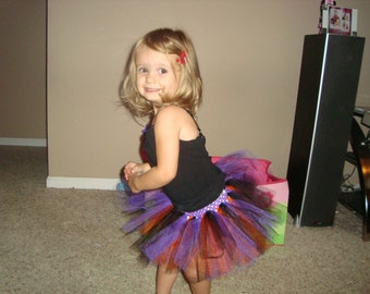 Halloween inspired tutu skirts, great for parties and dress up, order 2 for sisters!