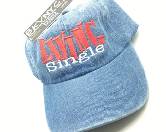 Denim Living Single Sitcom TV Show Dad Cap Hat