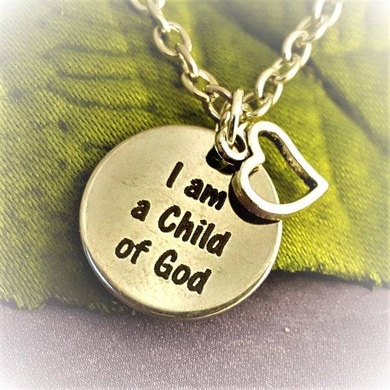 LDS I am a Child of God Jewelry, Gifts for LDS Primary Children, LDS Charm Necklace, Christian Charms, Mormon Jewelry, Gifts for Young Women