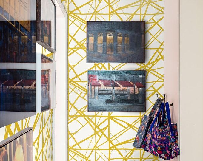 Gold stripes wallpapers - Modern Wallpaper - Inspired harlequin sumi wallpaper