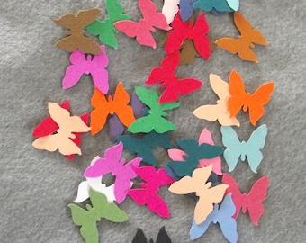 Nombre de poinçons-30 confettis papillon de papier cartonné