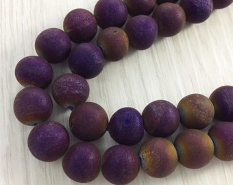 3pcs Full Strand 8mm -14mm Druzy Agate Beads , Agate Beads , Geode Beads , Druzy Beads , Findings , Craft Supplies & Tools , Wholesale beads