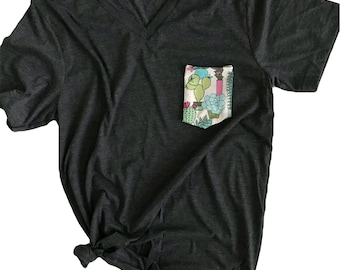Potted Cactus Pocket Tee