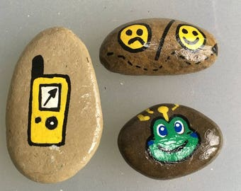 Set of 3 Geocache stones
