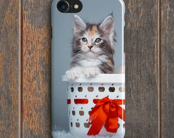 Kitten In A Basket Phone Case - PC010 | Personalised Gift | Unique Gift | Phone Case | iPhone | Samsung