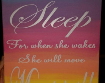 Multi colored 11×14 canvas with quote of your choice