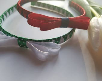 Spring, Summer, Schhol, Classy, Vibrant Yellow/green/red Woven Headband for girls, toddlers and adults.