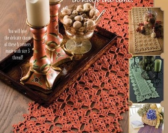 More Table Runners Crochet Pattern Book 6 Designs