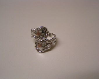 Solid Sterling Silver Spoon ring Size 8