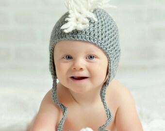 Newborn Baby Boy Baby Girl Toddler Child Crochet Mohawk Hat Beanie Punk Photography Prop