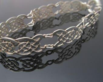 Unique Celtic knot bracelet - Sterling Silver Celtic Bracelet - Irish Jewelry - Handcrafted in Ireland -  Free worldwide shipping