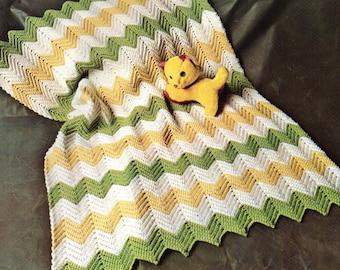 Baby Crochet Pattern, EASY Crochet Baby Afghan Pattern, Zig Zag or Ripple Crochet Baby Afghan Pattern, INSTANT Download Pattern PDF (1331)