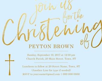 Baptism Christening Invitation