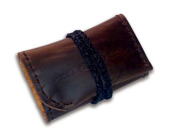 Handmade Leather Money Pouch / Coin Wallet