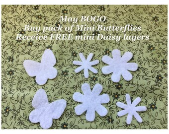 Felt Mini White Butterflies #2 -DIY Kits for Independent Consultants Parties-Planner Decorations-Costume Embellishments-Quilt Appliques