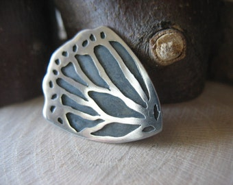 Hand-Sawn Sterling Silver Monarch Butterfly Monarch Necklace