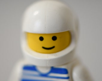 "Lego Wall Art - lego figure space boy room decor 16x20 white blue yellow 8x10 photo happy face print 11x14 nursery wall art 5x7 - ""Astronaut"