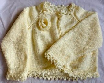 Baby girl rose bolero / baby gift/ baby shower/ cardigan