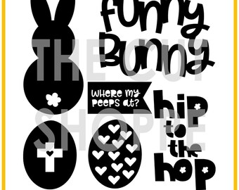 The Hip Hop cut file set includes 6 Easter themed images, that can be used for your scrapbooking and papercrafting projects.