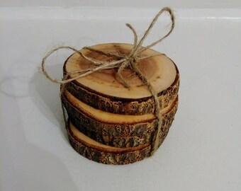 Tree trunk Paulowania coaster set, free shipping