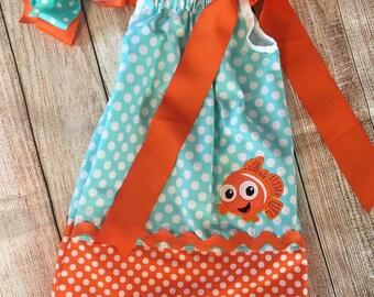 Nemo pillowcase dress, Pillow case dress, Disney Pillowcase Dress