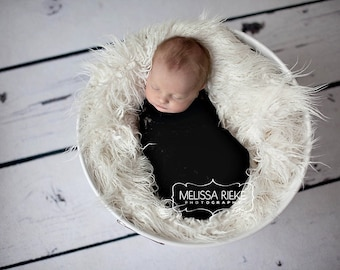 Stretch Lace Wrap Black Newborn Photography Prop Baby Swaddle