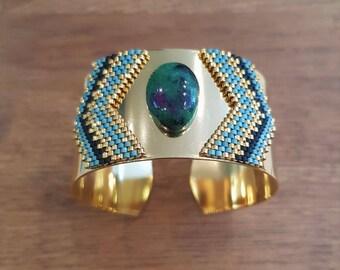 Ruby Zoisite Nefertiti cuff