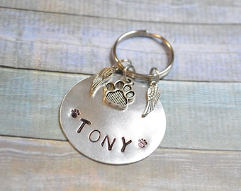 Large Pet Memorial Keychain, Pet Memorial, Pet Loss Gifts, Pet Loss, Dog Memorial, Cat Memorial, Pet Memorial Gift, Memorial,