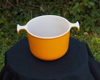 Orange Vintage LE CREUSET French Heavy Cast Iron enamel cooking pot set saucepan casserole 1970s / Holy10