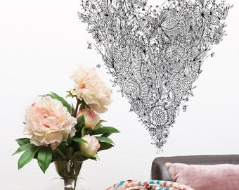 Love Heart Removable Wall Sticker