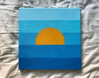 "Ocean Sky (10""x10"")"