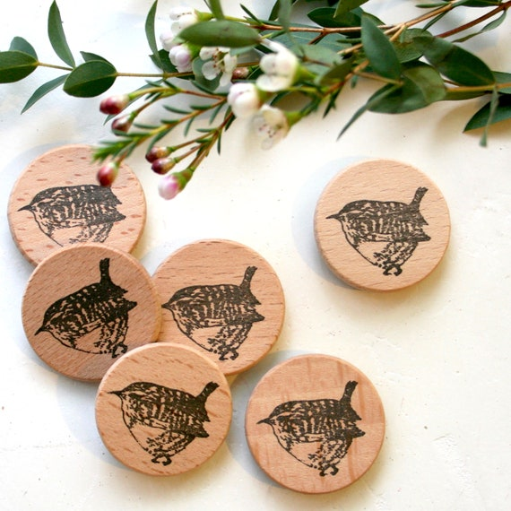 Wren Rubber Stamp - Wren Bird Rubber Stamp - Bird Stamp - little wren Stamp - Little Stamp Store - Sticky Stamp - Rubber Stamp Shop - stamp