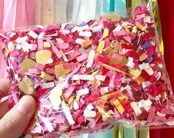 Love Confetti- Shredfetti - Valentines - wedding- Bridal Shower - Free Shipping