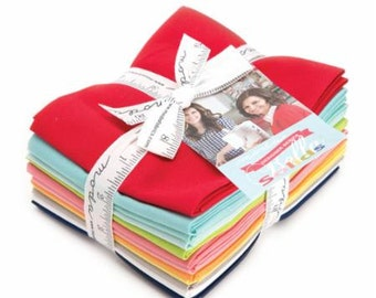 SPRING SALE - Bonnie and Camille - Bella Solids - Fat Quarter Bundle (12) -  9900ABBC - Moda Fabrics