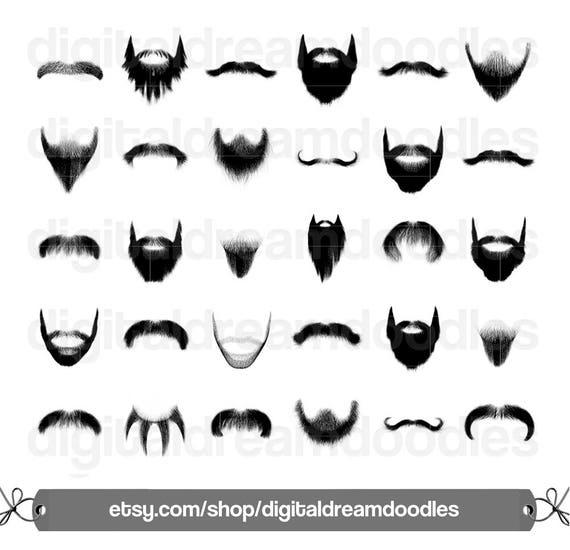 beard clipart, beard clip art, moustache clipart, mustache clip art