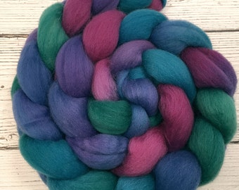 Handpainted Polwarth Wool Roving - 4 oz. CARNIVAL - Spinning Fiber