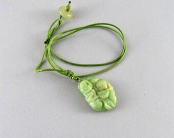 Natural carved jade pendant necklace - Antique jade pendant
