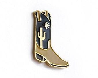 High Noon Cowboy Boot Enamel Pin