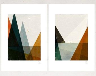 Nadadora Set of two prints